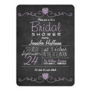 Lavender Purple & White; Chalkboard Bridal Shower