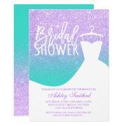 Lavender Turquoise Mermaid Dress Bridal Shower