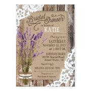 Lavender Wood Lace Rustic Bridal Shower