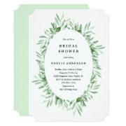 Leafy Bridal Shower Invitation
