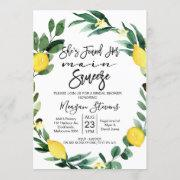 Lemon Main Squeeze Bridal Shower Invitation