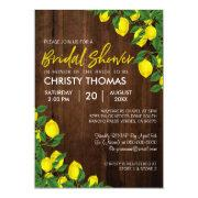 Lemon Wood Summer | Bridal Shower Invite