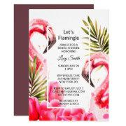Let's Flamingle Bridal Shower | Flamingoes Invitation