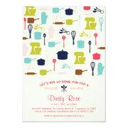 Let's Mix Up Some Fun - Kitchen Bridal Shower Custom Invitations