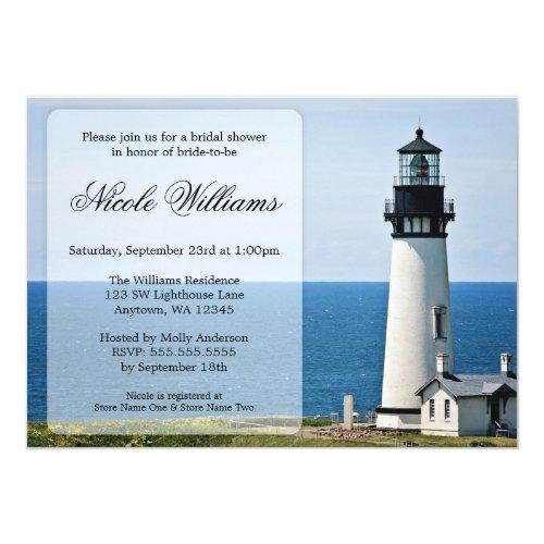 Lighthouse Bridal Shower Invitations
