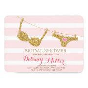 Lingerie Bridal Shower  Pink & Gold