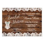 Lingerie Bridal Shower Lace Corset Wood