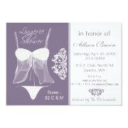 Lingerie Shower Bachelorette Party Invitations