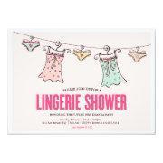 Lingerie Shower Bachelorette Party Wedding Shower Custom Announcement
