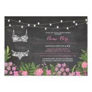 Lingerie Shower Bachelorette Pink Bridal Invite