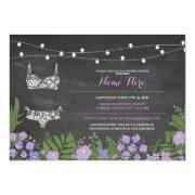 Lingerie Shower Bachelorette Purple Bridal Invite