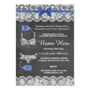 Bridal Party Blue Bow Lace Invite