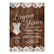 Lingerie Shower Bridal Party Corset Lace Invite