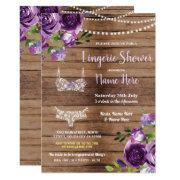 Lingerie Shower Wood Purple Flowers