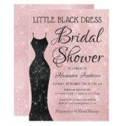 Little Black Dress Pink Sparkle Bridal Shower