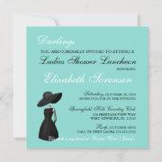 Little Black Dress Theme Shower Teal Blue Party