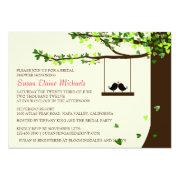 Love Birds Falling Hearts Oak Tree Bridal Shower