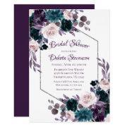 Love Bloom | Eggplant Moody Purple Bridal Shower Invitations