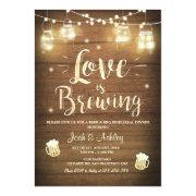 Love Is Brewing Bbq Rehearsal Bridal Shower Wood