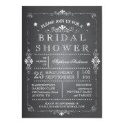 Lovely Chalkboard Bridal Shower Invitation