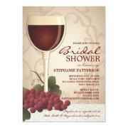 Lovely Wine & Grapes Bridal Shower