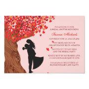 Loving Couple Initials Oak Tree Fall Bridal Shower