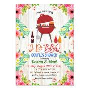 Luau I Do Bbq Tropical Couples Shower Invitation