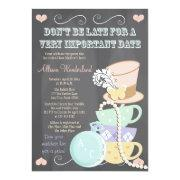 Mad Hatter Bridal Shower Invitations