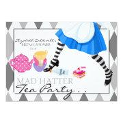 Fun bridal shower invitations funbridalshowerinvitations mad hatter bridal shower tea party invitation filmwisefo