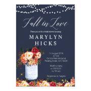 Marsala Navy Fall In Love Bridal Shower