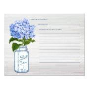 Mason Jar & Blue Hydrangea Grey Recipe