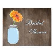 Mason Jar & Gerbera Daisy Rustic Bridal Shower