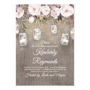Mason Jar Lights Floral Rustic Bridal Shower
