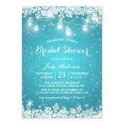 Mason Jar Lights Turquoise Winter Bridal Shower