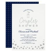 Mason Jar, Silver & Navy Couples Wedding Shower
