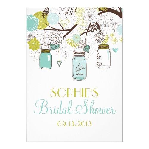 Mason Jars Spring Flowers Bridal Shower