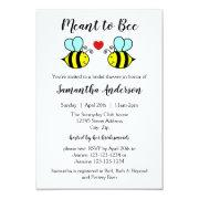 Meant To Bee - 3x5 Bridal Shower Invitations