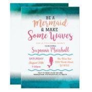 Mermaid Bridal Shower Invite Pink Bachelorette