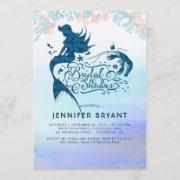 Mermaid Bridal Shower Under The Sea Of Love Invitation