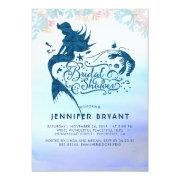 Mermaid Bridal Shower Under The Sea Of Love Invitation
