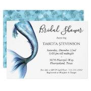 Mermaid Glitz Bridal Shower | Princess Blue Invitation