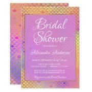 Mermaid Purple, Pink And Yellow Bridal Shower