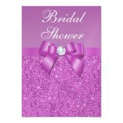 Metallic Radiant Orchid Sequins Bow Bridal Shower