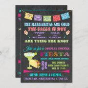 Mexican Fiesta Couples Bridal Shower Invitation