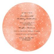 Minimal Sparkly Round Shape Coral White Sequins