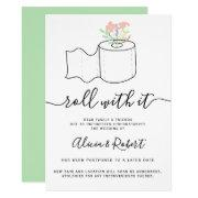 Mint Floral Wedding Postponed Roll With It Invitation