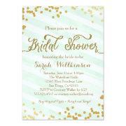 Mint Green & Gold Wedding Bridal Shower