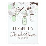 Mint Green Mason Jars Bridal Shower