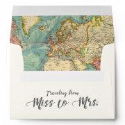 Miss To Mrs Travel Bridal Shower Envelope World