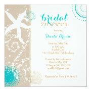 Modern Beach Bridal Shower Invitation